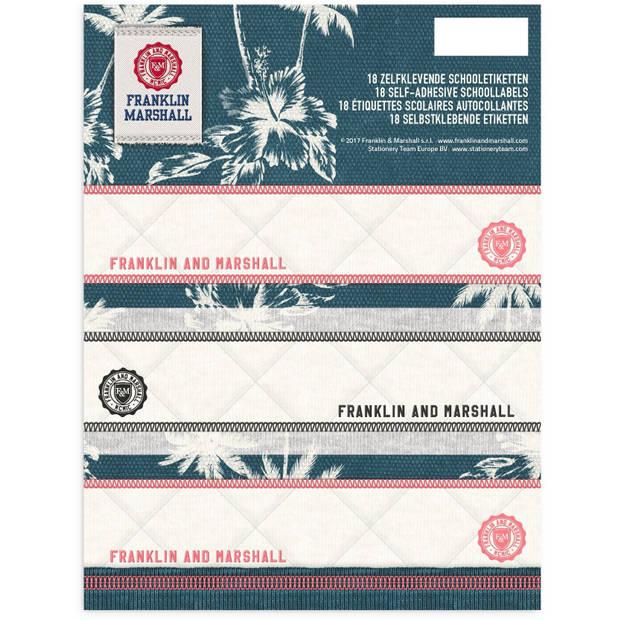 Stationery team etiketten franklin m. 18 stuks