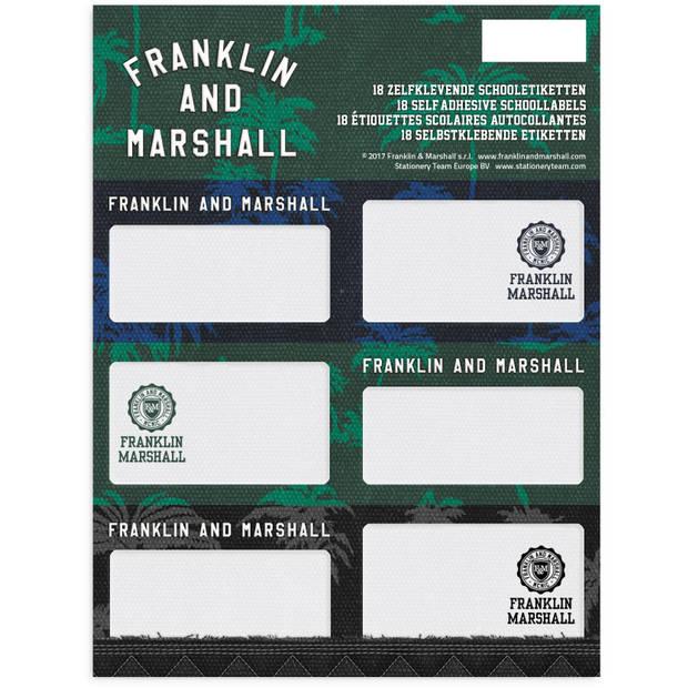 Stationery team etiketten franklin m. Groen 18 stuks