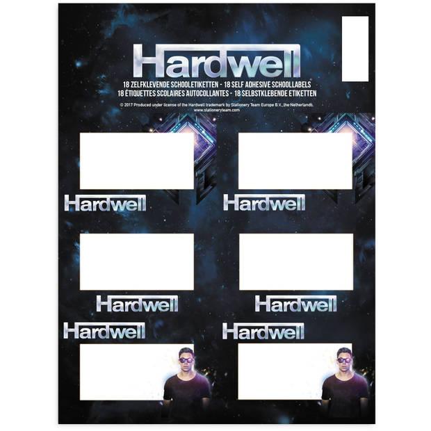 Stationery Team etiketten Hardwell 18 stuks