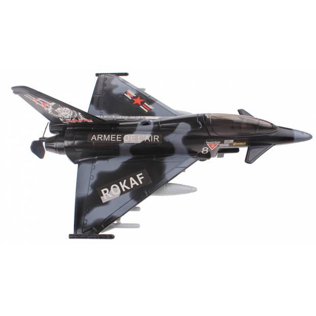 Johntoy plafond vliegtuig Action Fighters met licht zwart
