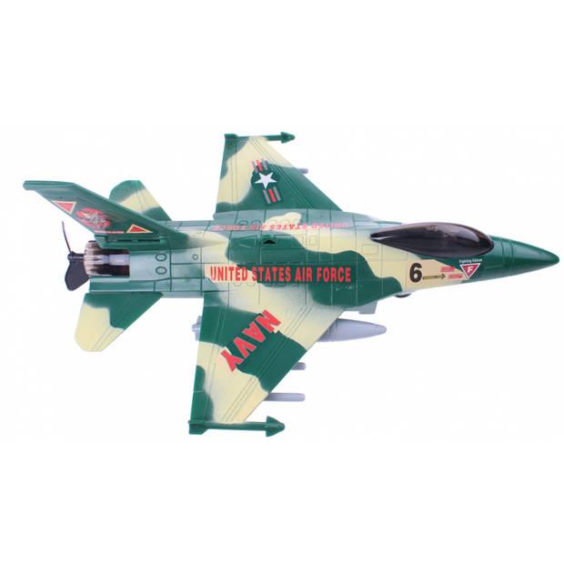 Johntoy plafond vliegtuig Action Fighters met licht groen