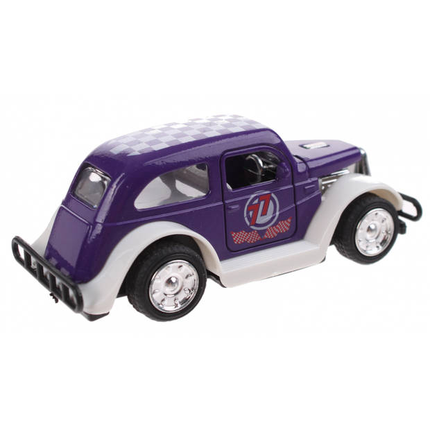 Toi-Toys Hot Rod wagen Pull Back diecast 9 cm paars