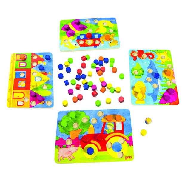 Goki kleuren dobbelspel 77-delig