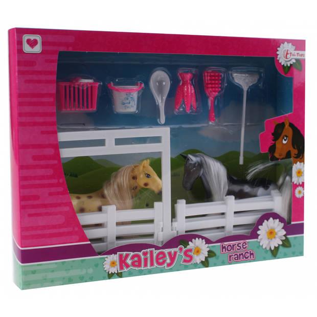Toi-Toys speelset Kailey's paard 9-delig bruin/zwart