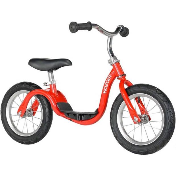 Kazam Loopfiets met 2 wielen loopfiets 12 Inch Junior Rood