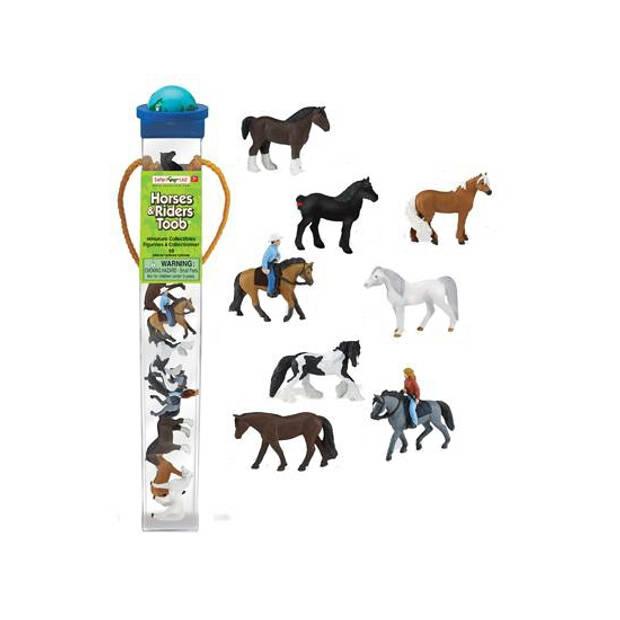 Paarden ruiters poppetjes setje