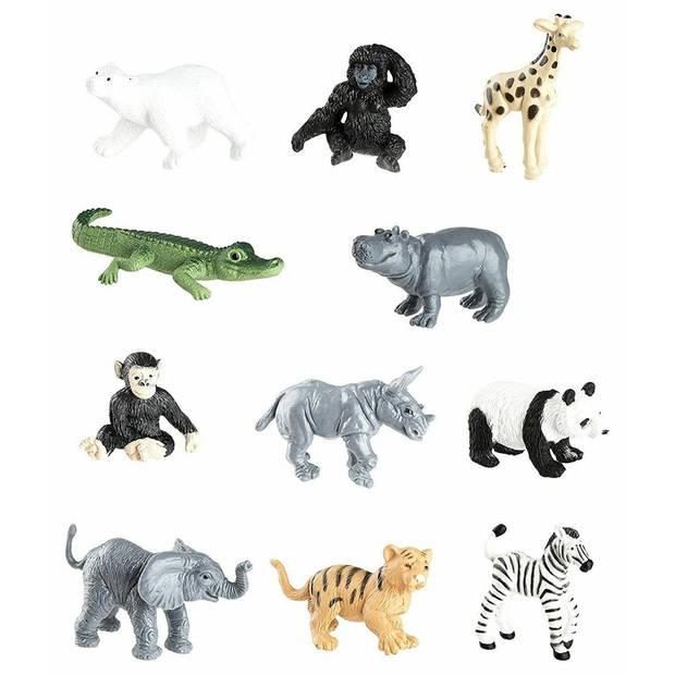 Plastic speelgoed figuren dierentuin dieren
