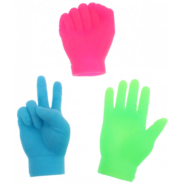 Toi-Toys vingerpoppen kleine handen blauw 6.5 cm