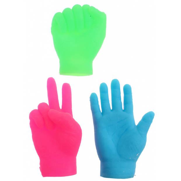 Toi-Toys vingerpoppen kleine handen roze 6.5 cm