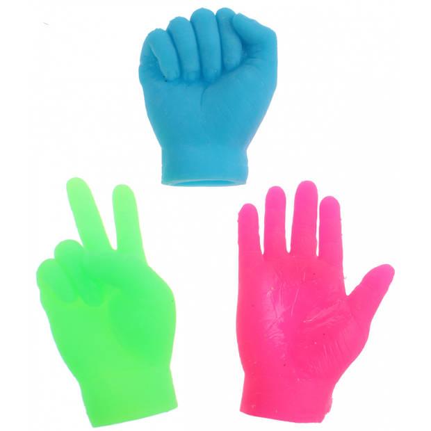 Toi-Toys vingerpoppen kleine handen groen 6.5 cm