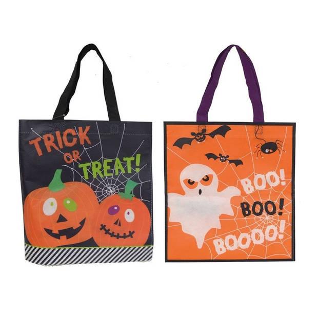 Halloween tas voor snoep oranje