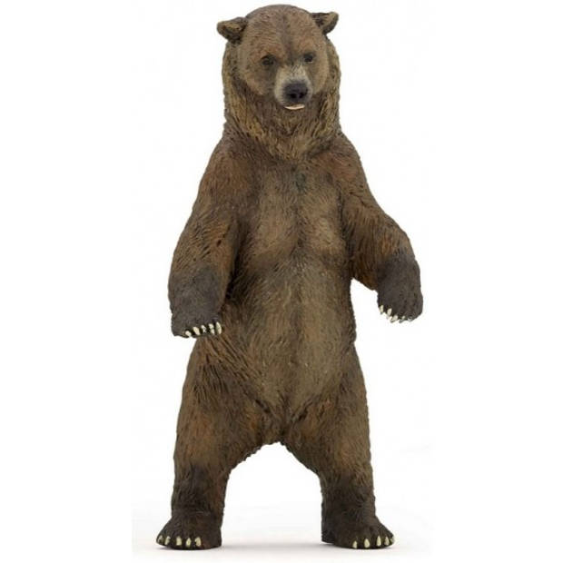 Plastic grizzly beer 12 cm