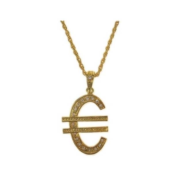 Gouden euro ketting