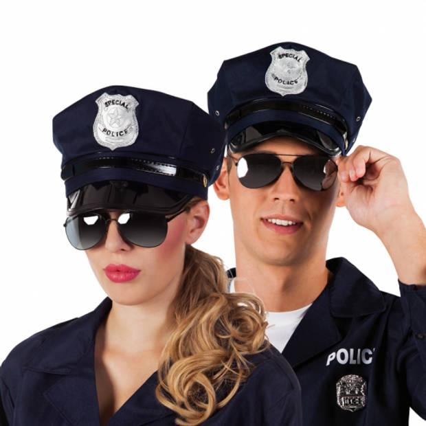 Politie zonnebril zwart