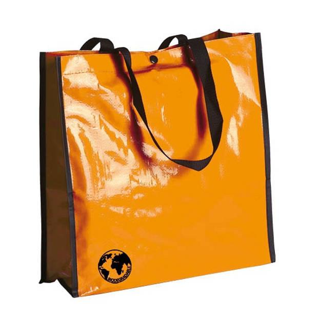 Eco shopper tas oranje - Milieuvriendelijke boodschappentassen en shoppers