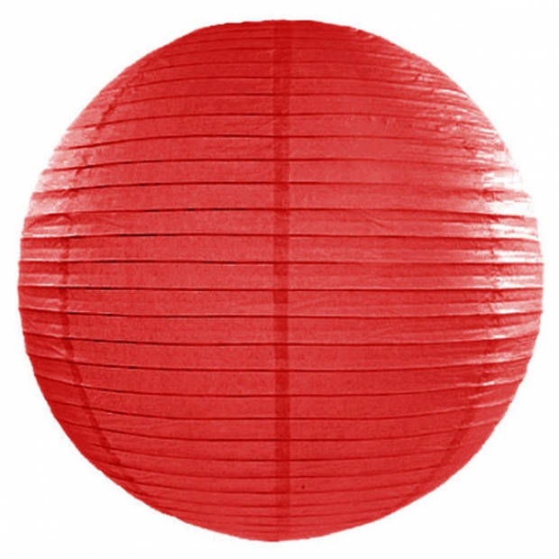 Luxe bol lampion rood 50 cm