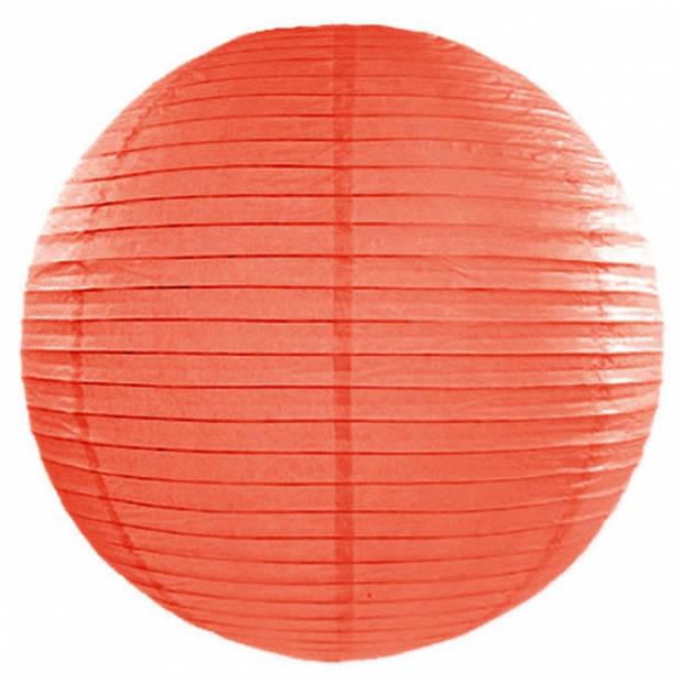 Luxe bol vorm party lampion oranje dia 50 cm - Holland feestartikelen en versieringen