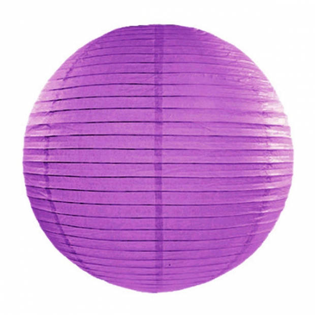 Luxe bol lampion donker paars 35 cm