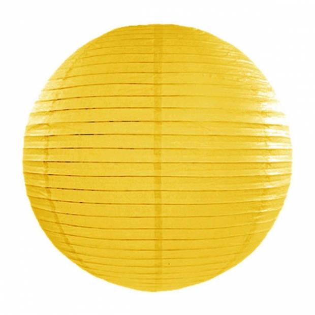 Luxe bol lampion geel 35 cm