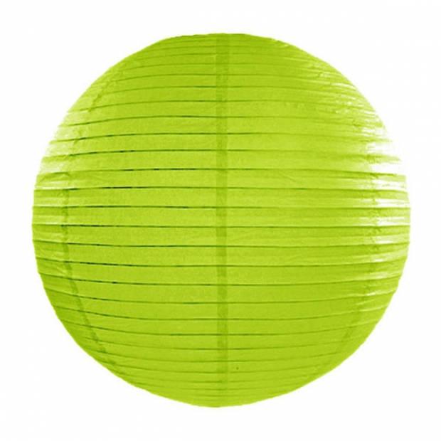 Luxe bol lampion appelgroen 35 cm - Feestartikelen/versieringen
