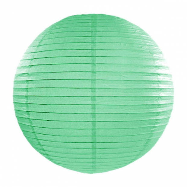 Luxe bol lampion mint groen 35 cm