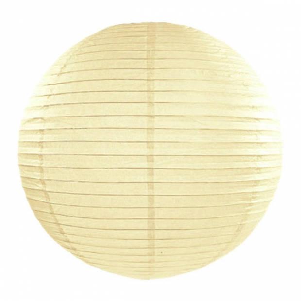 Luxe bol lampion ivoor 35 cm