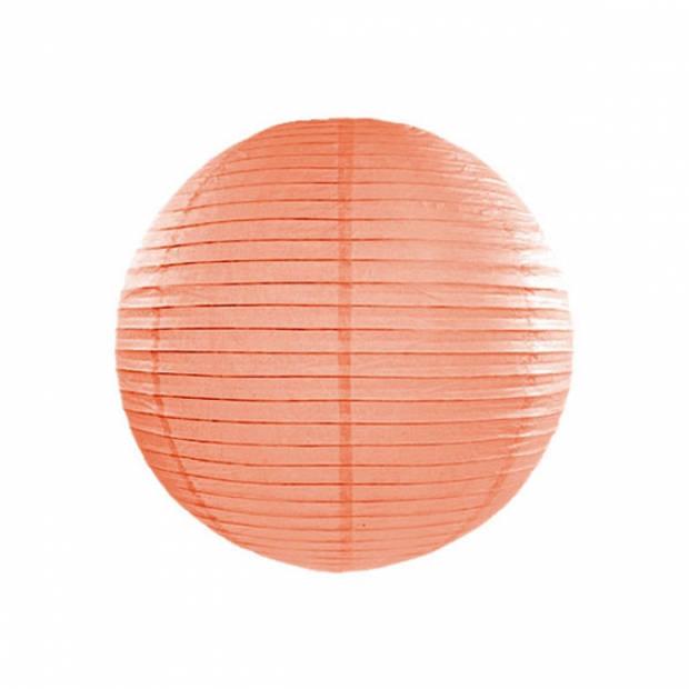 Luxe bol lampion perzik 25 cm
