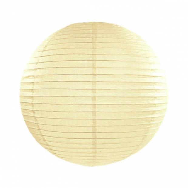 Luxe bol lampion ivoor 25 cm