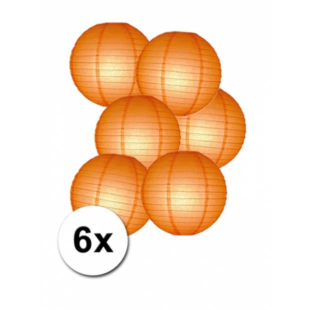 Voordelig lampionnen pakket oranje 6x