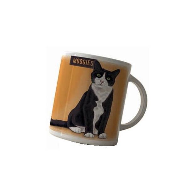 Koffie mok zwart/witte kat