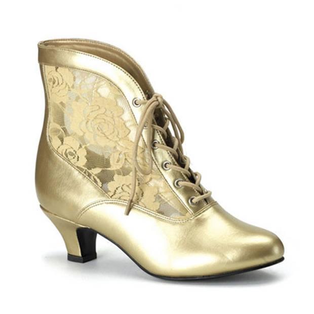 Gouden middeleeuwse dames schoenen 39