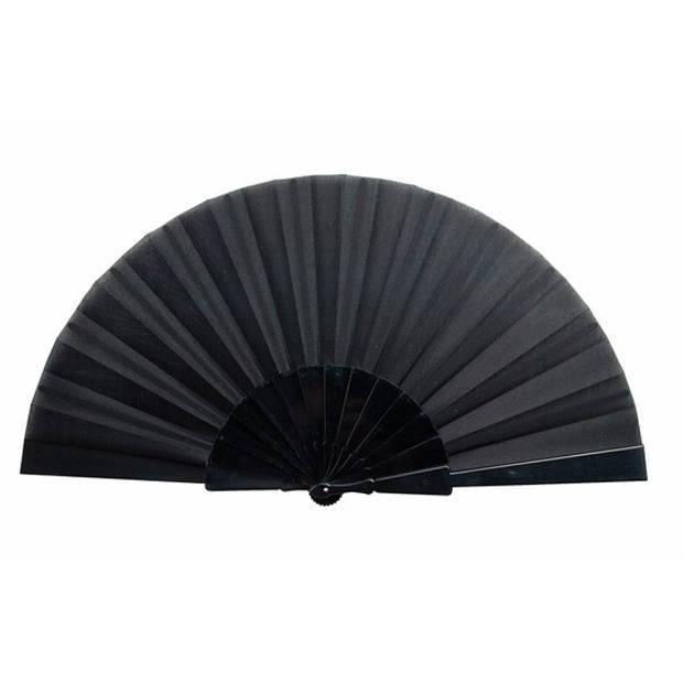 Spaanse Handwaaier zwart 23 cm