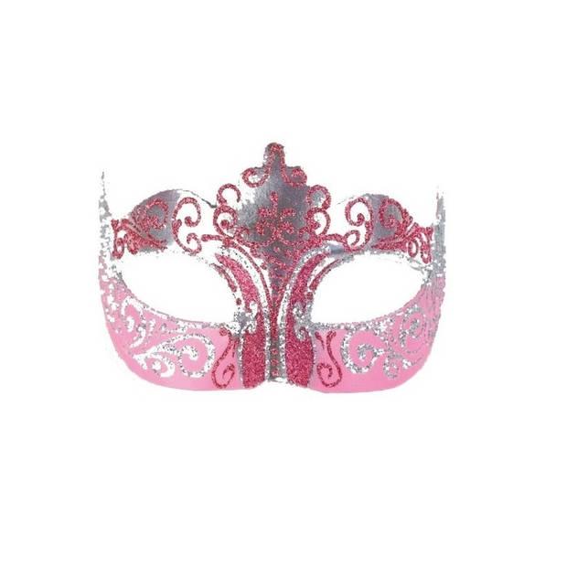 Venetiaans barok oogmasker goud/roze