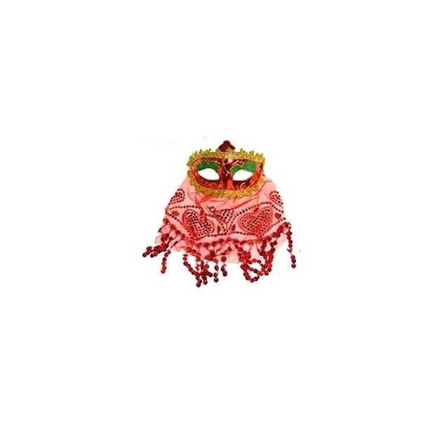 Arabisch oogmasker rood