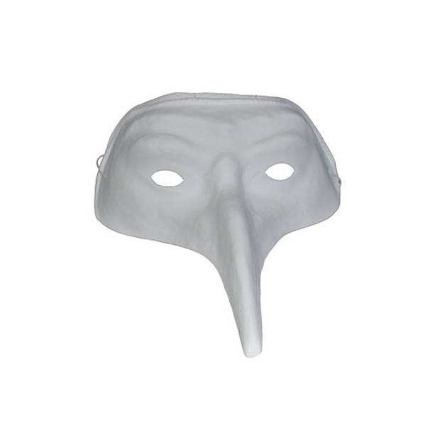Wit plastic snavelmasker voor volwassenen