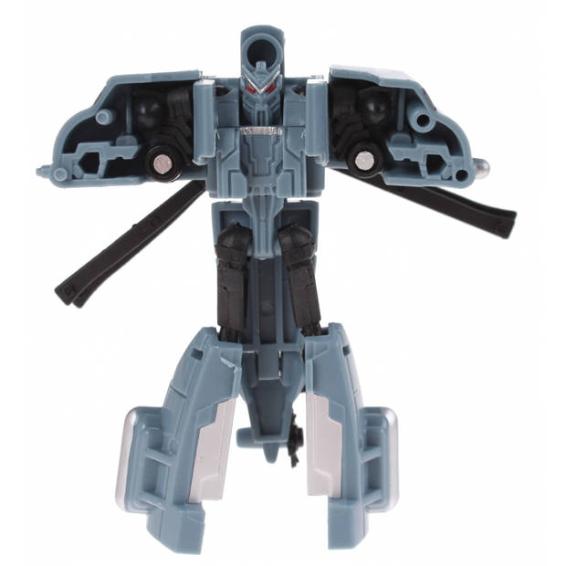 Toi-toys roboforces transformation robot grijs 10 cm