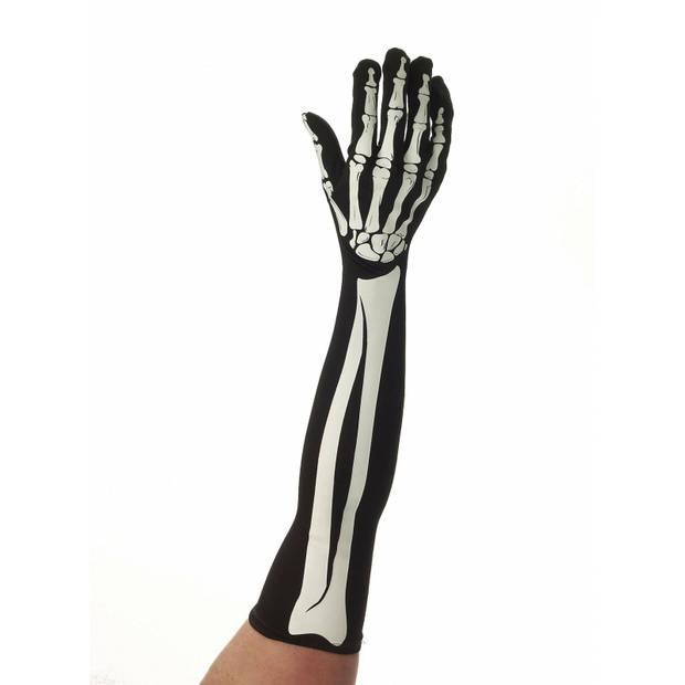 Skelet handschoenen lang voor volwassenen