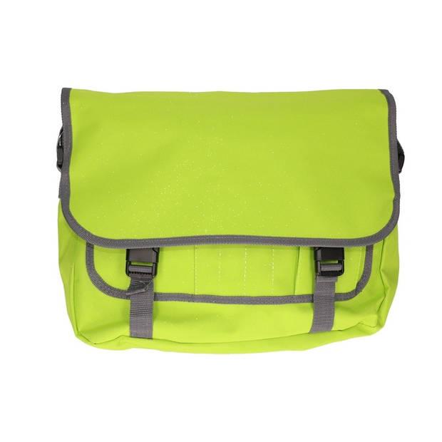 Schoudertas/aktetas diverse kleuren 41 cm voor dames/heren - Schooltassen/laptop tassen met schouderband navy