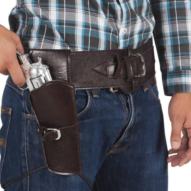 Cowboyset riem en holster 110cm