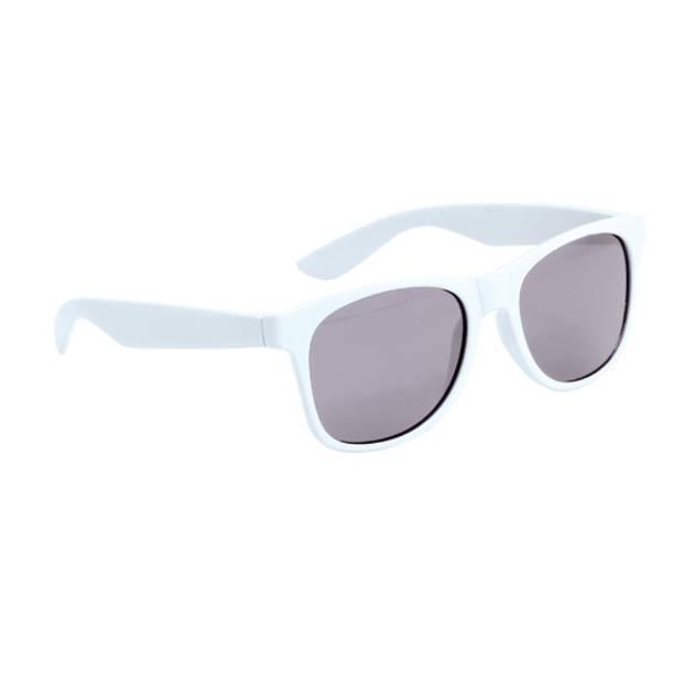 Witte kinder feest- en zonnebril wayfarer - Verkleedbrillen