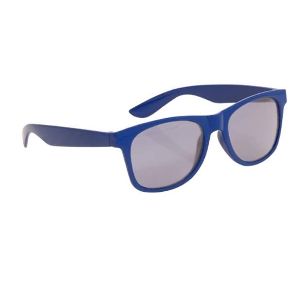 Blauwe kinder feest- en zonnebril wayfarer