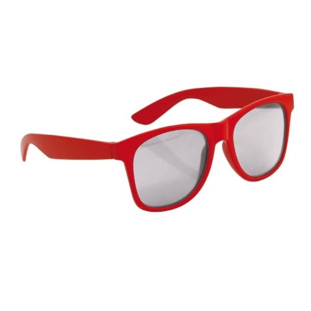 Rode kinder feest- en zonnebril wayfarer - Verkleedbrillen