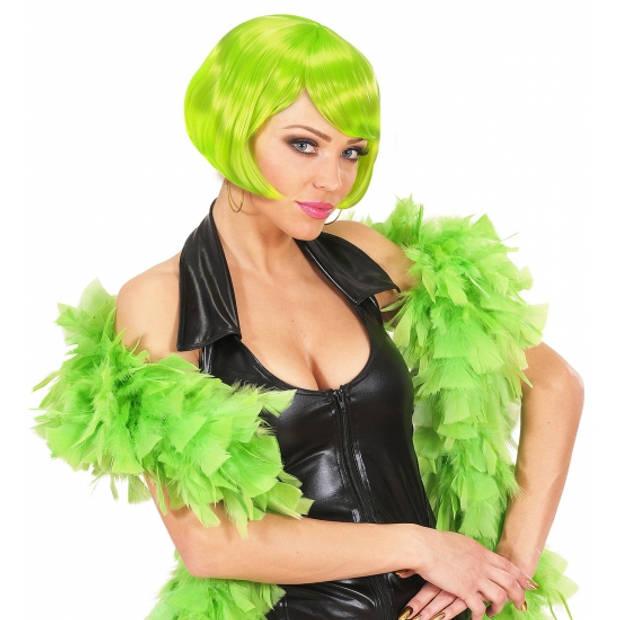 Lime groene boa 180 cm