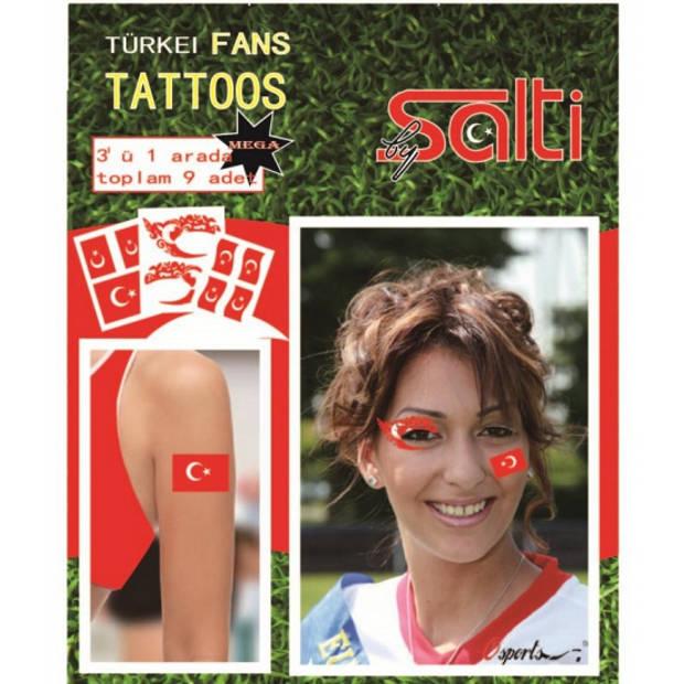 Tattoos Turkije 9 stuks