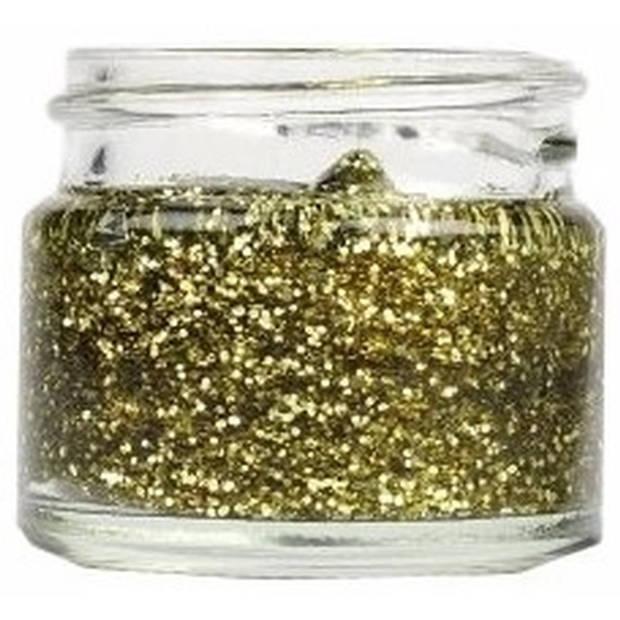 Superstar glittergel goud
