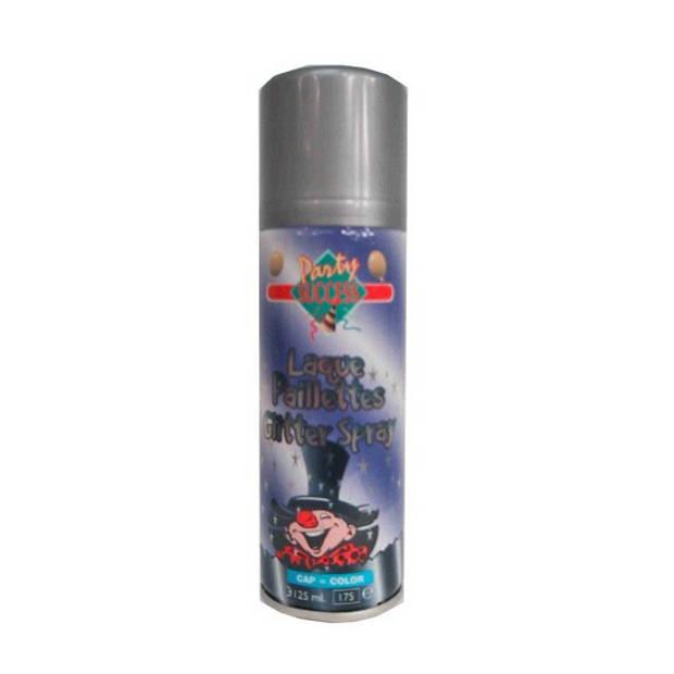 Zilveren glitter haarspray haarverf - verkleed accessoires