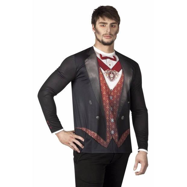Heren shirt met vampier opdruk 52 (L)