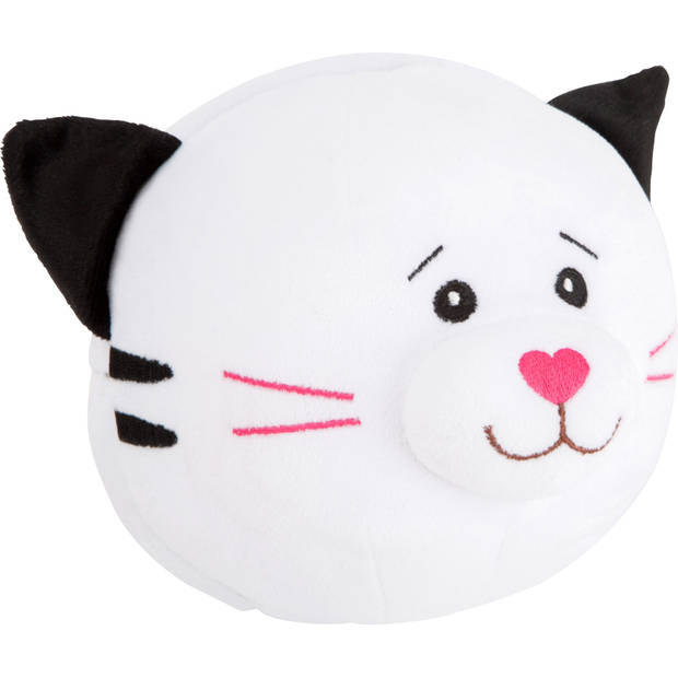 Small Foot knuffelbal kat en muis 23 cm wit/beige