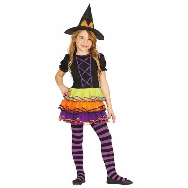 Luxe heksen kostuum / outfit Brujita voor meisjes 10-12 jaar (140-152)