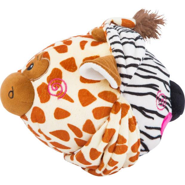Small Foot knuffel bal giraffe en zebra
